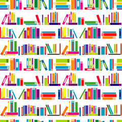Colorful background with stylized books