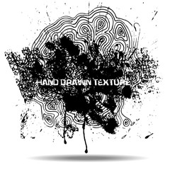 Abstract black sponge stains texture. Design for your brushes and grunge effects.