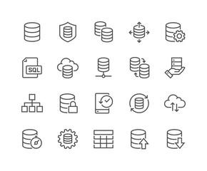 Line Database Icons