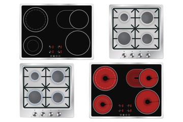 Cooktops. Gas, electric, ceramic