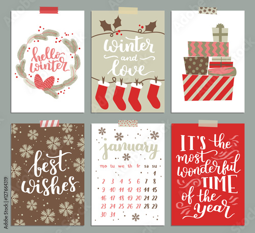 Vector collection of christmas poster templates christmas set of vector collection of christmas poster templates christmas set of greeting cards bright colors maxwellsz