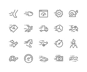 Line Speed Icons