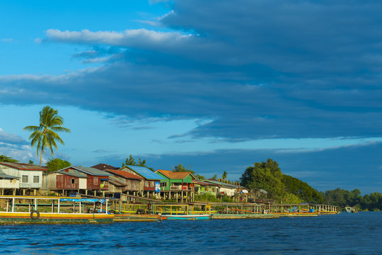 view of Khong river, Laos