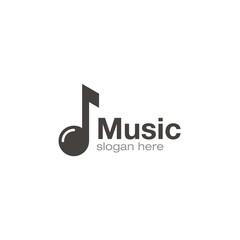 Music note logo creative design vector