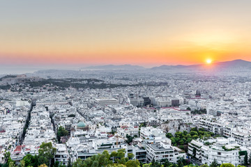 Athens at sunset, Greece