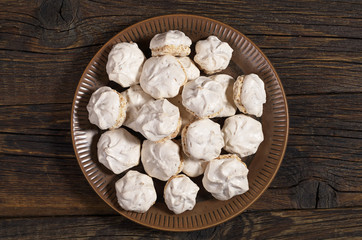 Meringue cookies with nuts