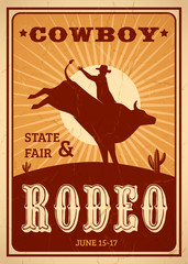 Advertisement Rodeo Poster