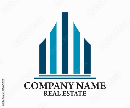 Real estate building construction and architecture logo for S architecture logo