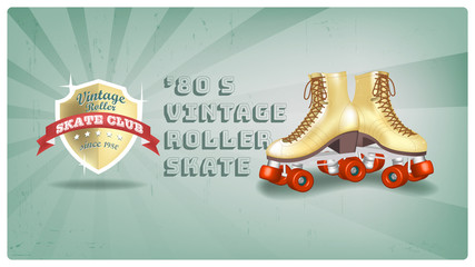 Roller Skate Vintage Club since 1980, Logo and Poster design