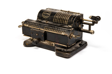 vintage mechanical counting machine