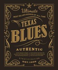 Vintage label typography poster frame retro design vector
