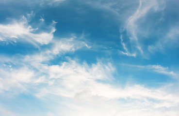 Blue sky clouds background.