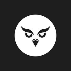 Owl Silhouette Logo or Icon