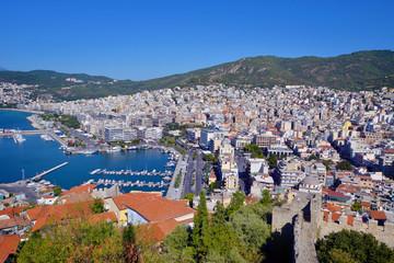 Cityscape of Kavala, Greece