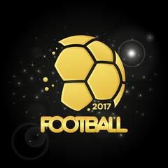 Abstract golden soccer ball