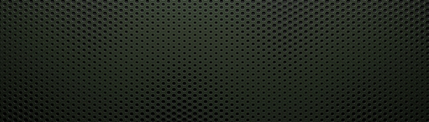 Dark wide hexagon background