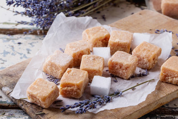 Fudge candies with Lavender