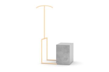 Blank luxury display, 3d render original design
