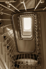 Foto op Plexiglas Trappen stairs of an old house at Porto,Portugal
