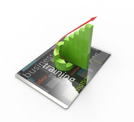 Modern computer tablet, rising trend of development concept