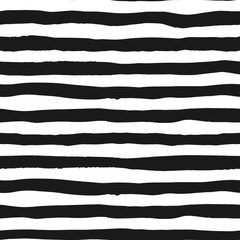 Grunge seamless pattern of black and white lines, seamless background grunge monochrome stripes, hand drawn vector pattern for textile, wallpaper, web design, wrapping, fabric, paper