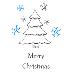 vector Christmas and new year hand drawn seamles pattern