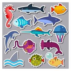 Fish Icons Set