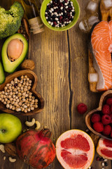 Healthy food or paleo diet concept