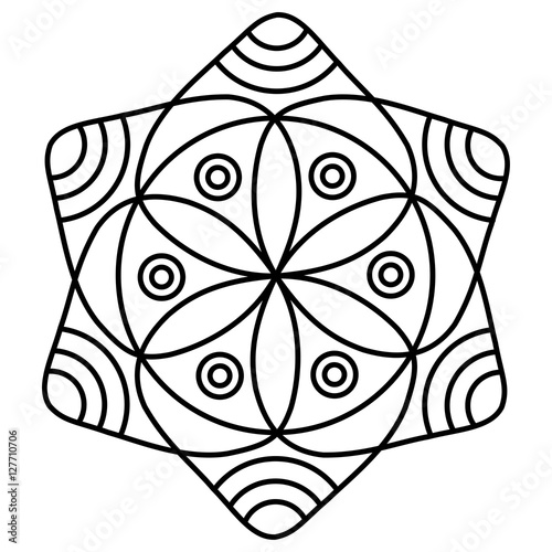 Simple Mandala Flower Design For Coloring Book Pages Doodle Floral