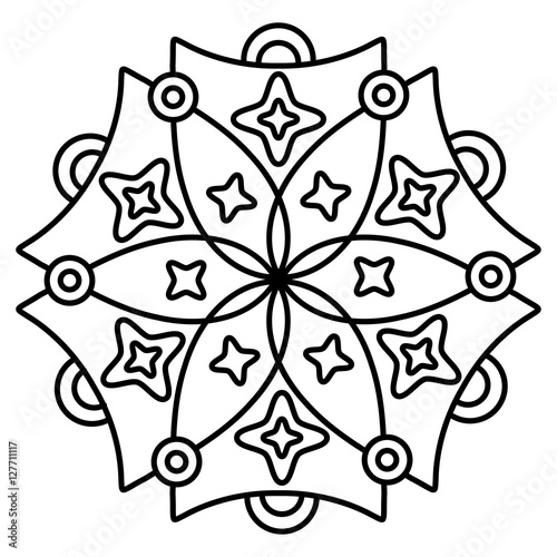 Mandala Coloring Pages With Thick Lines Coloring Pages