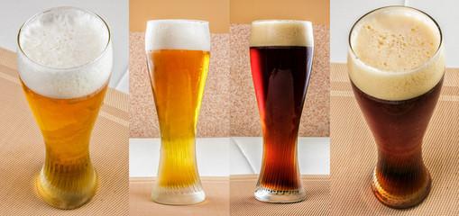 lager beer and dark beer set