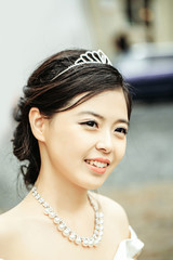Chinese pretty smiling bride