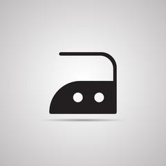 Векторная иллюстрация иконка простой символ плоский для веб Iron утюг символ по уходу за одеждой
