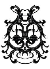 Baroque Elegant lamp vintage ornaments Vector