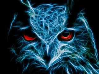 Estores personalizados com sua foto Abstract image owl dark color wallpaper background flame illustration stock