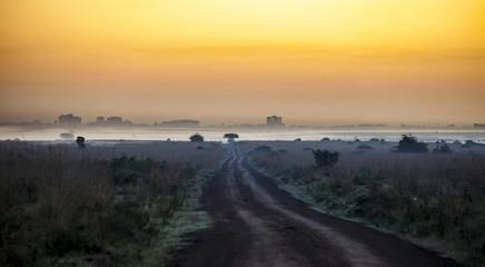 Road leading toward Nairobi