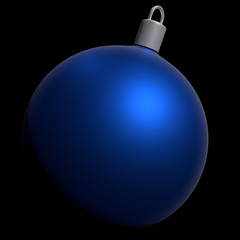 blue xmas ball