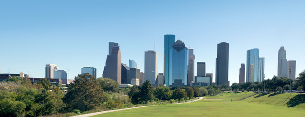 Panorama Center Houston, Downtown in the day. Texas, United Stat