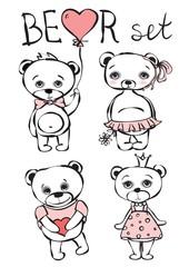 Cute bear set