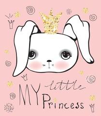 Cute little princess rabbit girl