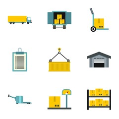 Store icons set. Flat illustration of 9 store vector icons for web