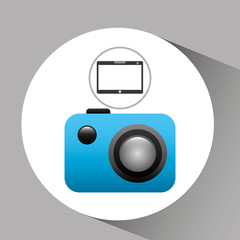 tablet pc technology picture camera vector illustration eps 10