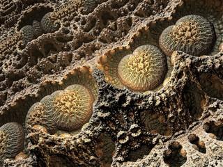 Brown organic infinite fractal shape