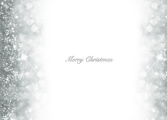 Bokeh Christmas background with silver glitter