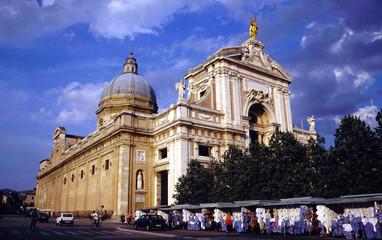 Italy,Umbria,Assisi city, Santa Maria degli Angeli.