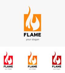 Flame logo template vector
