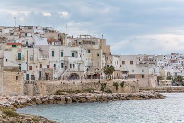 """Scenic view of Vieste, the famous """"Pearl of Gargano"""" in Foggia Province, Puglia (Italy)"""