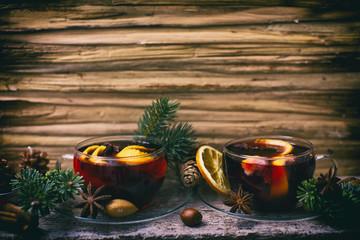 Hintergrund Glühwein Tee WInter