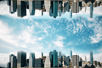 Fotomurales - Upside down cityscape