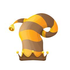 funky stripped cartoon christmas vector elf hat